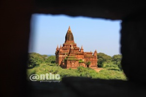 Bagan temple in framing - 1