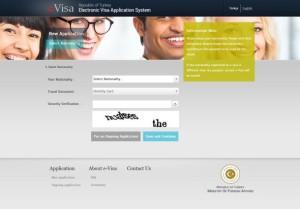 Halaman awal e-visa