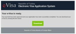 e-visa telah jadi!