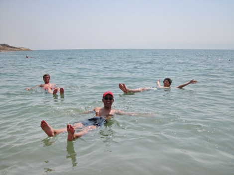 Floating with friends