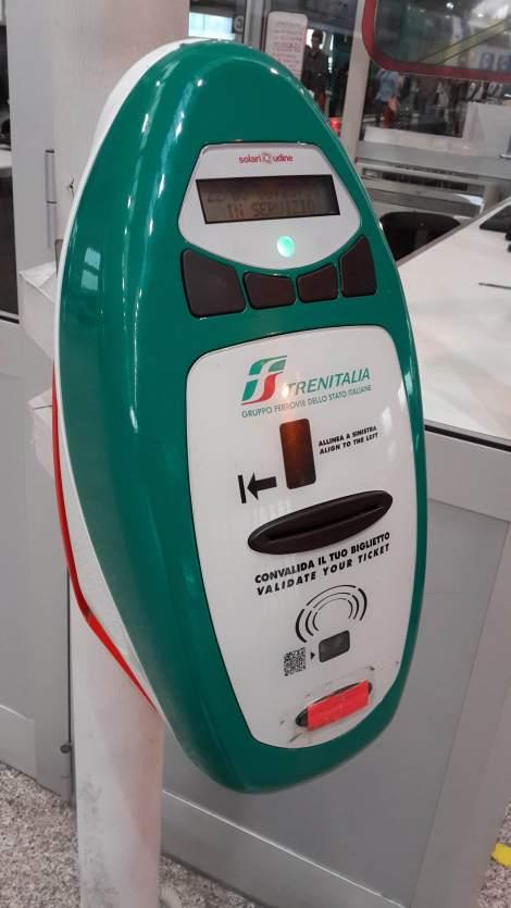 Mesin Validasi Tiket di Italia